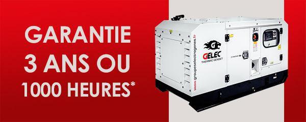 Groupe électrogène GELEC garantie