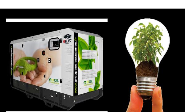 Groupe électrogène huile végétale biomasse GELEC ENERGY