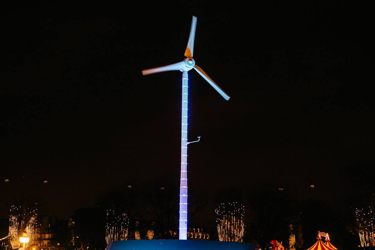 GELEC et IKEA illumine les Champs Elysées - groupe électrogène