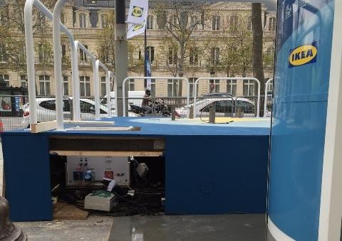 GELEC et IKEA illumine les Champs Elysées groupe électrogène