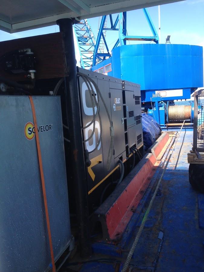 Groupe électrogène alimentation électrique sur barge - groupe électrogène maritime