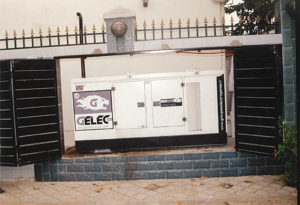 Brazzaville Congo pallier au réseau défaillant groupe électrogène