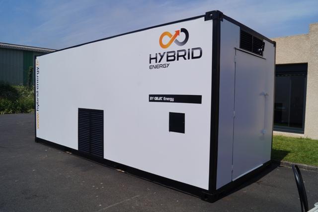 groupe électrogène hybride en conteneur centre de recyclage