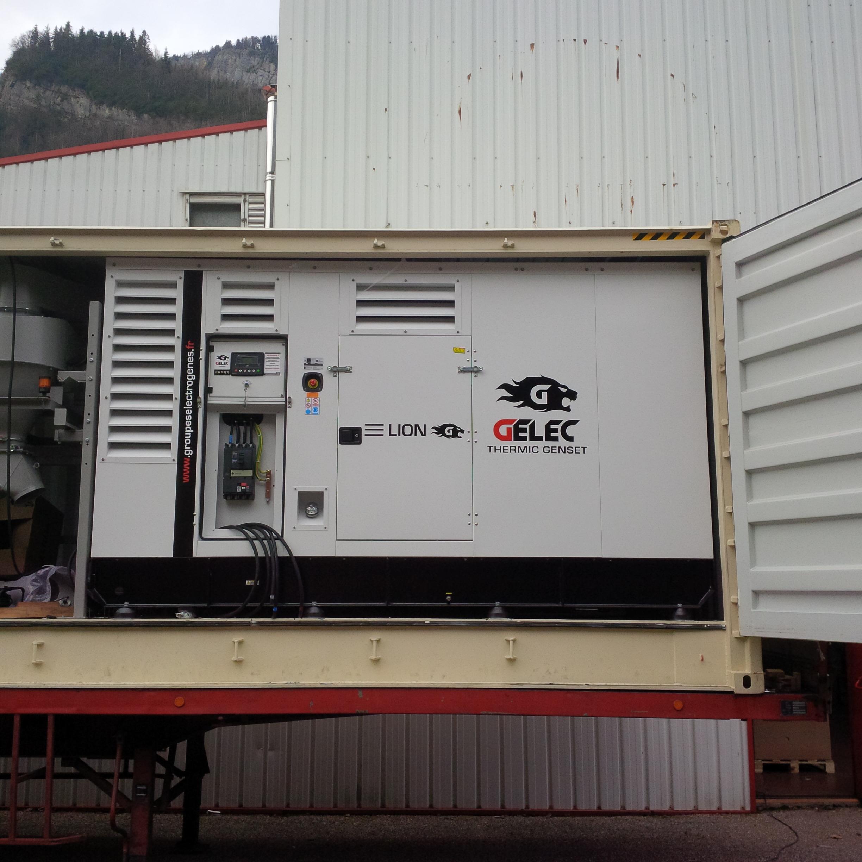 Groupe électrogène GELEC sur mesure pour unité de broyage