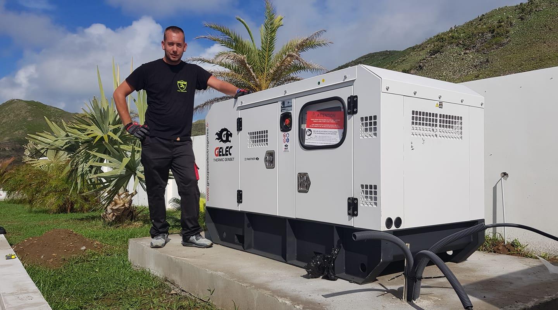 habitation sécuriser l'alimentation électrique groupe électrogène - Groupe électrogène habitation Guadeloupe
