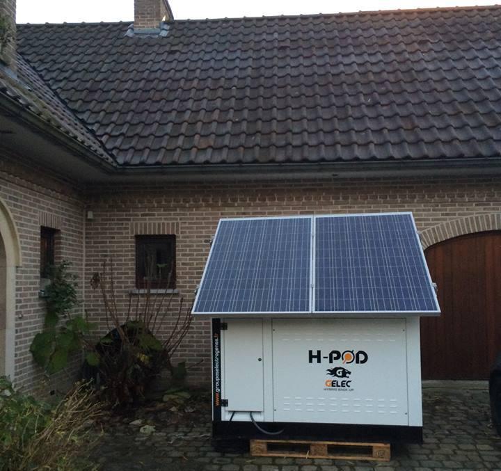 Hpod et photovoltaïque HABITATION RÉSEAU DÉFAILLANT