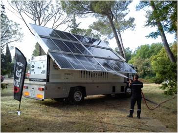 Sécurité civile Hybrid Power Station groupe électrogène green